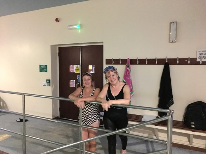 Bernadette and Jacqueline after a Front Crawl lesson
